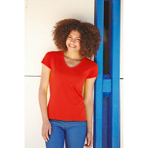 Fruit of the Loom Lady-Fit V-Neck Valueweight Tee