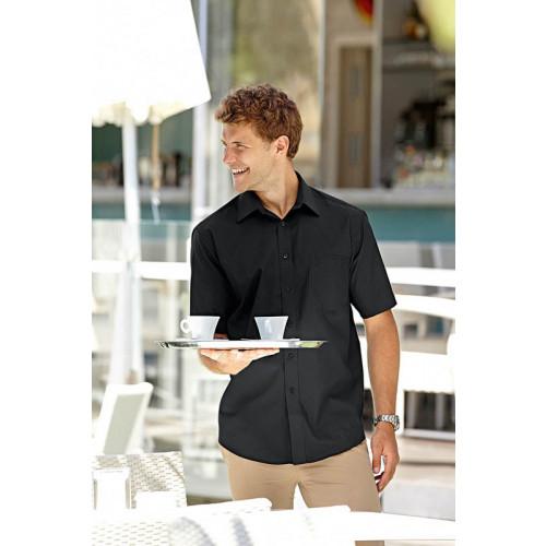 Mens Poplin Shirt Short Sleeve
