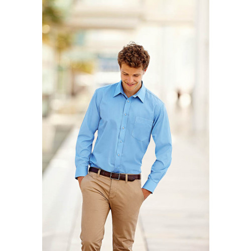 Mens Poplin Shirt Long Sleeve
