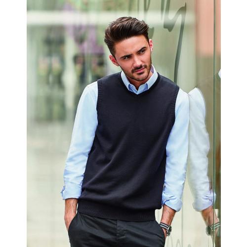 Russell Sleeveless Cotton Acrylic V Neck Sweater