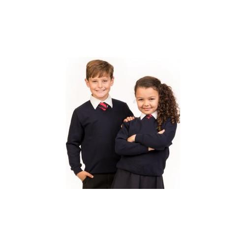 AWDis Academy Kids V Neck Sweatshirt