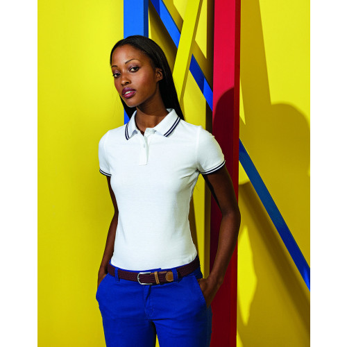 Asquth&Fox LADIES CLASSIC FIT TIPPED POLO