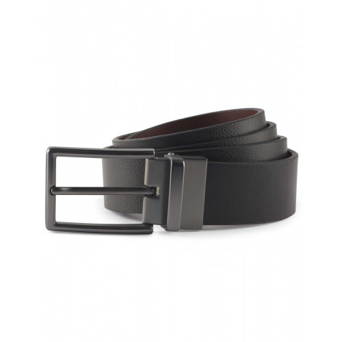 MENS TWO WAY LEATHER BELT BLACK/BROWN ONE SIZE