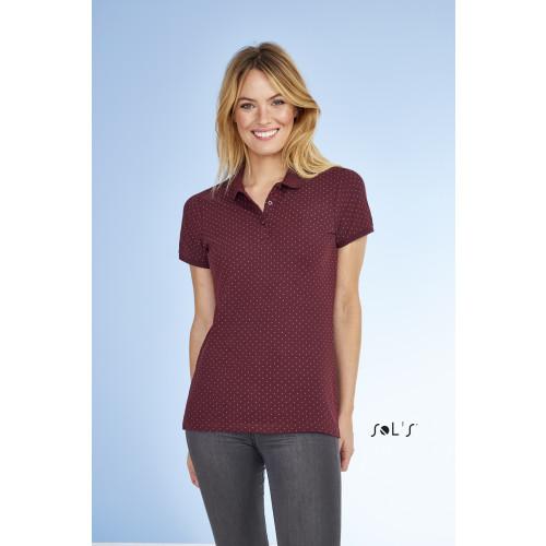 SOL'S BRANDY Women's Polka-Dot Polo Shirt