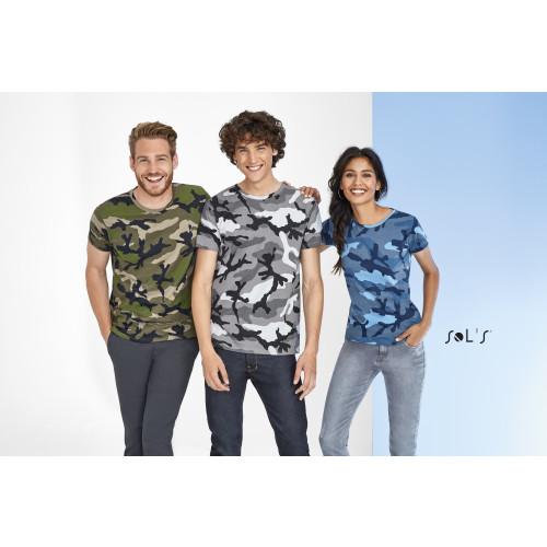 SOL'S CAMO Men's Round Collar T-shirt