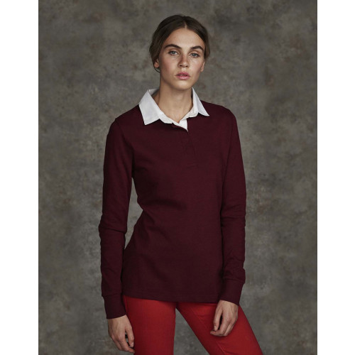 Front Row LADIES LONG SLEEVE PLAIN RUGBY SHIRT