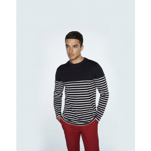 Front Row LONG SLEEVE STRIPED T-SHIRT
