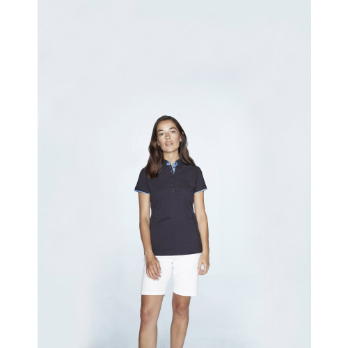 LADIES CONTRAST PIQUE POLO