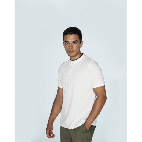 STAND COLLAR STRETCH POLOSHIRT