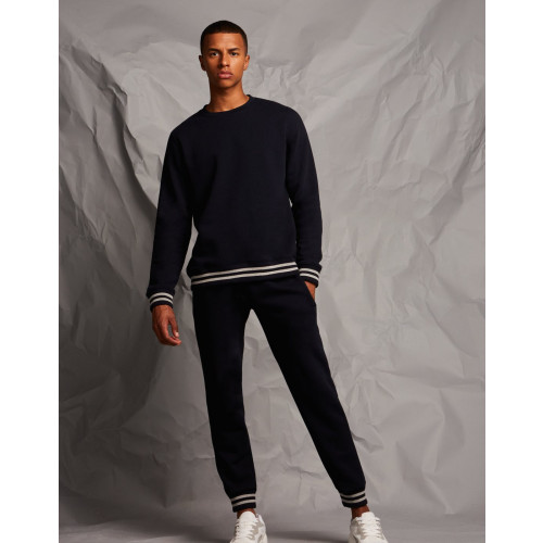 JOGGERS WITH STRIPED CUFFS