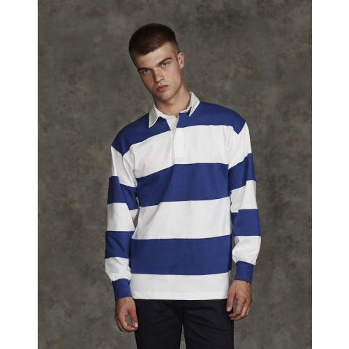 SEWN STRIPE L/S RUGBY SHIRT