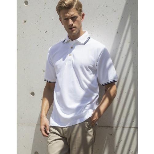 Contrast Double Tipped Cotton Piqué Polo Shirt