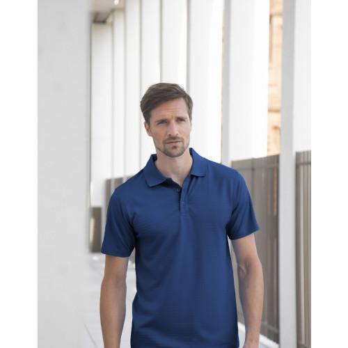 Cooltouch™ Textured Stripe Piqué Polo Shirt