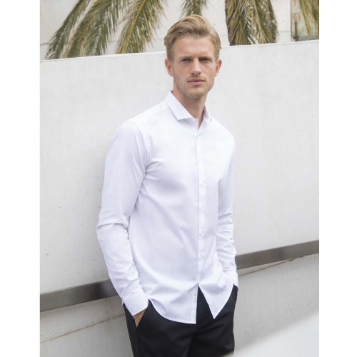 MENS L/SLEEVE STRETCH SHIRT