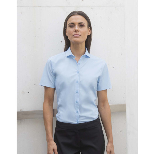 Henbury LADIES SHORT SLEEVE STRETCH SHIRT