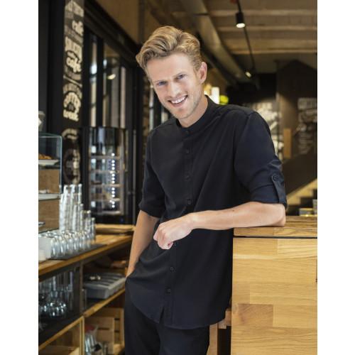 Mandarin Roll Sleeve Anti-Bac Wicking Shirt