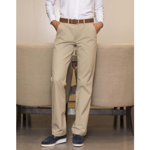 Ladies Flat Fronted Chino Trousers
