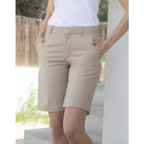 Ladies Flat Fronted Chino Shorts