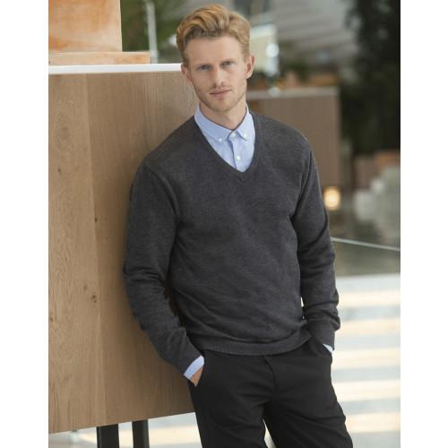 Lightweight Cotton Acrylic V Neck Sweater