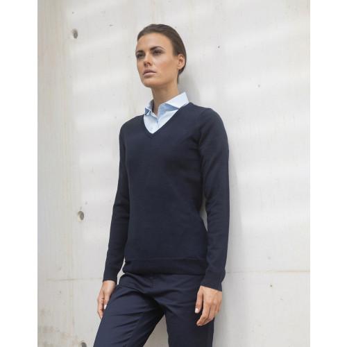 Ladies Acrylic V Neck Sweater