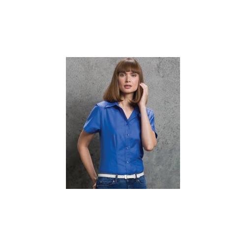 Ladies Short Sleeve Workwear Oxford Shirt