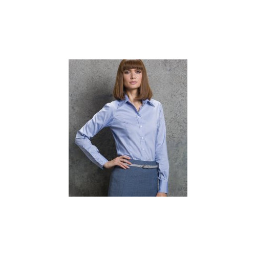 Ladies Long Sleeve Corporate Oxford Shirt