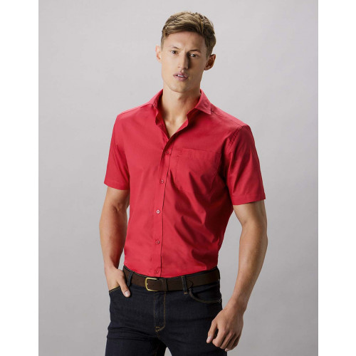 Short Sleeve Tailored Poplin Shirt