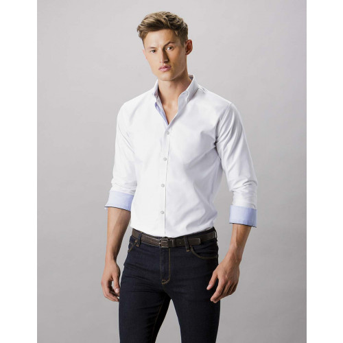 Clayton & Ford Contrast Long Sleeve Oxford Shirt