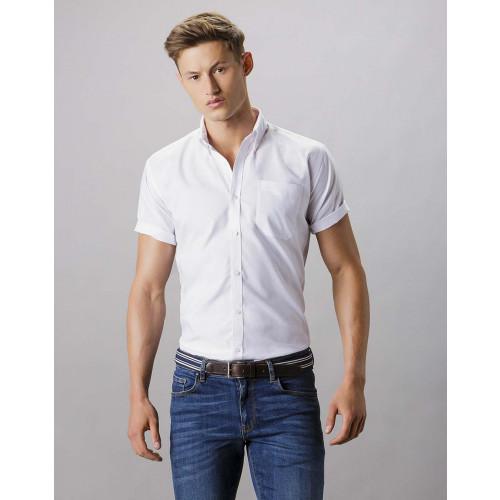 Kustom Kit Slim Fit Short Sleeve Oxford Shirt