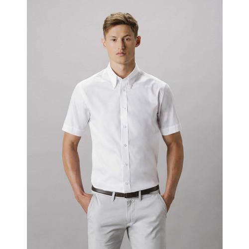 Kustom Kit Short Sleeve Tailored Premium Oxford Shirt