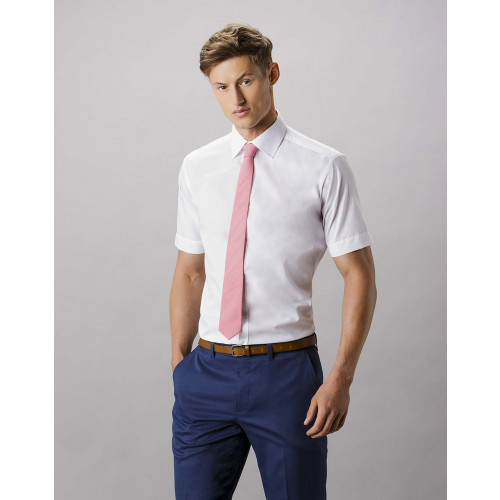 Short Sleeve Slim Fit Business Shirt
