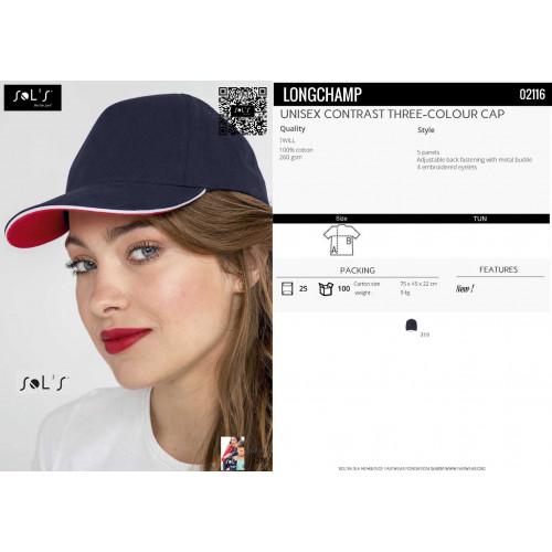 SOL'S LONGCHAMP Unisex Contrast 3 Colour Cap