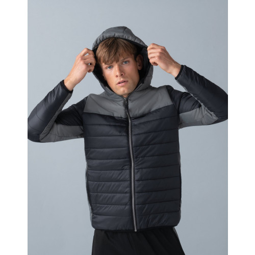HOODED CONTRAST PADDED JACKET