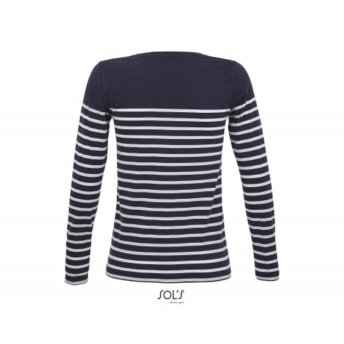 MATELOT WOMEN'S LONG SLEEVE STRIPED T-SHIRT
