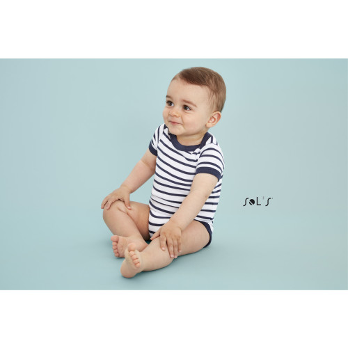SOL'S MILES BABY Striped Bodysuit