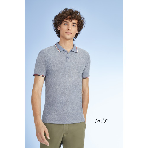 SOL'S PANAME Men's Heather Polo Shirt