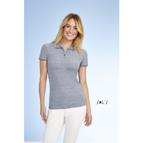 SOL'S PANAME Women's Heather Polo Shirt