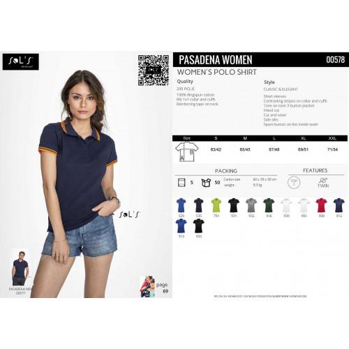 SOL'S PASADENA Women's Polo Shirt