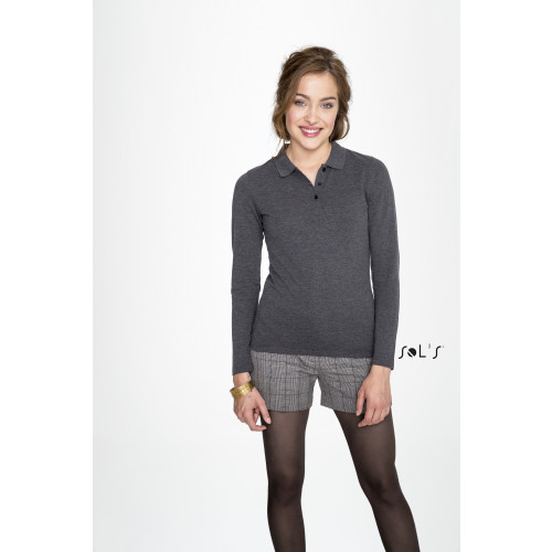 SOL'S PERFECT LSL Women's Long Sleeve Polo Shirt