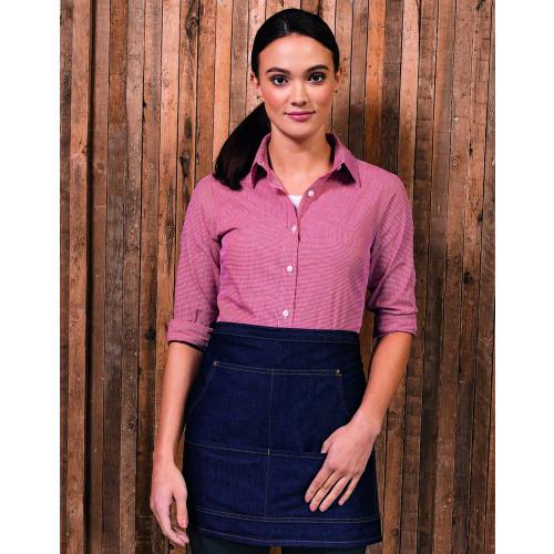 Ladies Gingham Long Sleeve Shirt