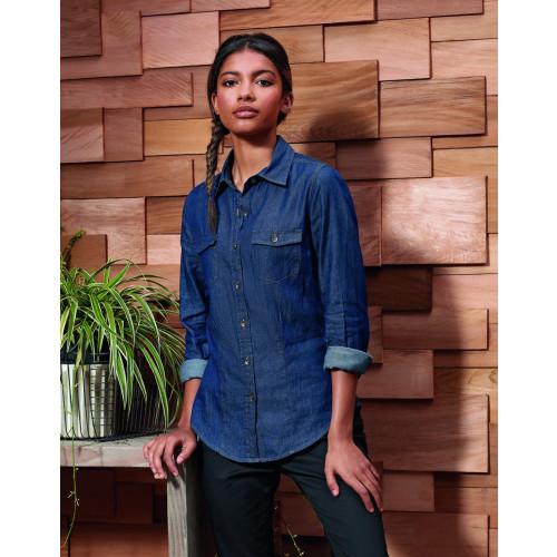 Ladies Jeans Stitch Denim Shirt
