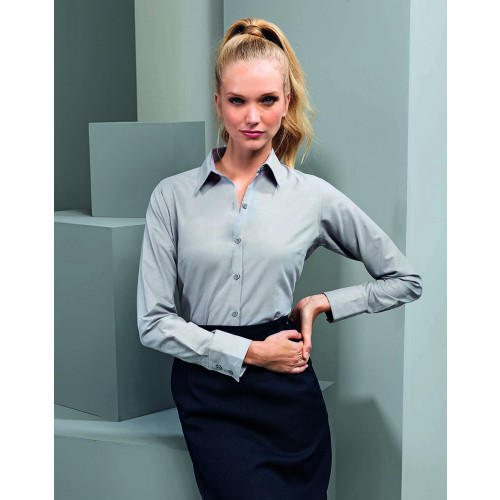 Ladies Signature Long Sleeve Oxford Shirt