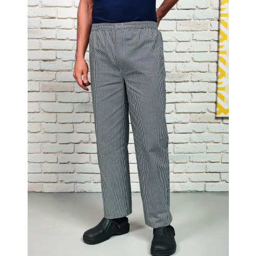 Pull On Chef's Check Trousers