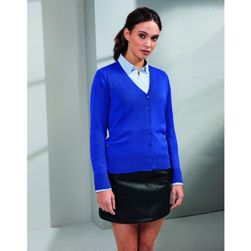 Premier Ladies Cotton Acrylic V Neck Cardigan