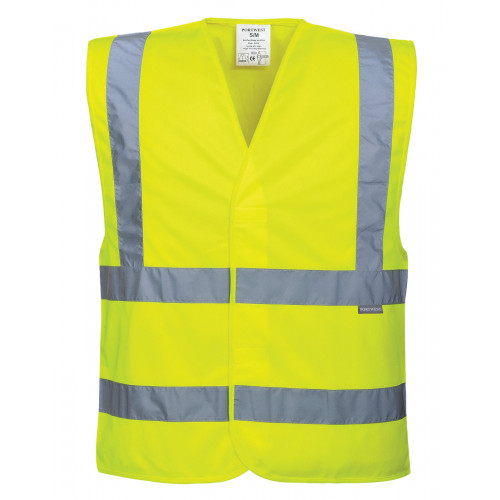 HI-VIS TWO BAND AND BRACE VEST Yellow L/XL
