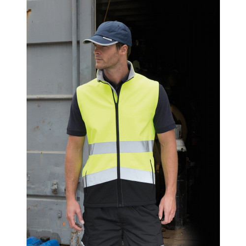 PRINTABLE SAFETY SSHELL GILET