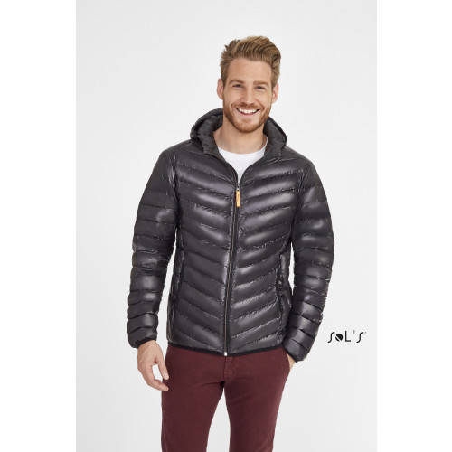 SOL'S RAY Men's Light Hooded Down Jacket