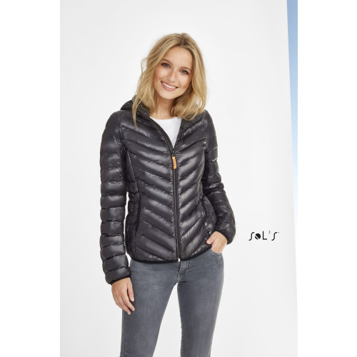SOL'S RAY Women's Light Hooded Down Jacket