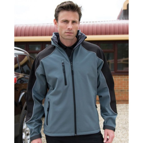 Result Work-Guard Ice Fell Hooded Soft Shell Jacket