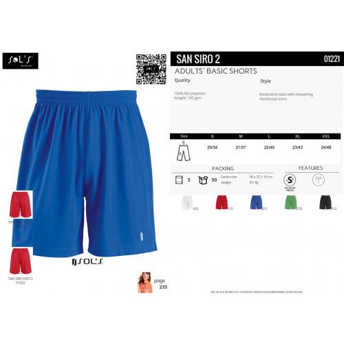 SOL'S SAN SIRO 2 Football Shorts